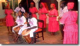 Garifuna dancing with drums